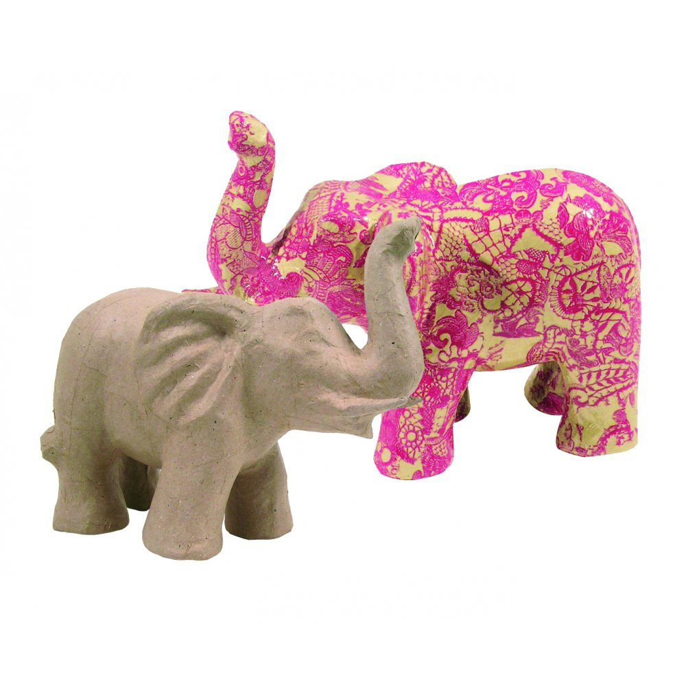 decopatch paper mache elephant approx 30cm long ma0060 hobbyworld direct. Black Bedroom Furniture Sets. Home Design Ideas