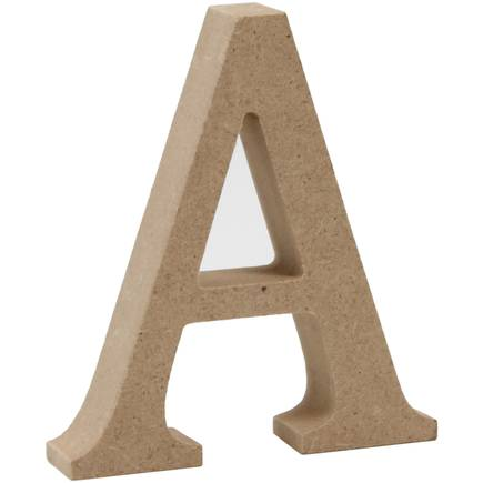 Wooden letters upper case 8cm high x thick mdf for Standing wood letters to paint